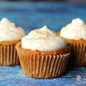 Carrot Cake with frosting on top Keto Dessert