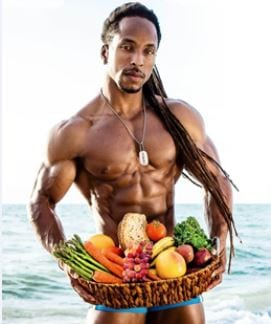 muscle image of man holding a fruit basket