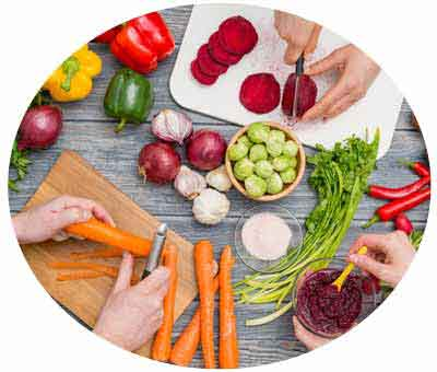 showing preperation of high protein vegetables