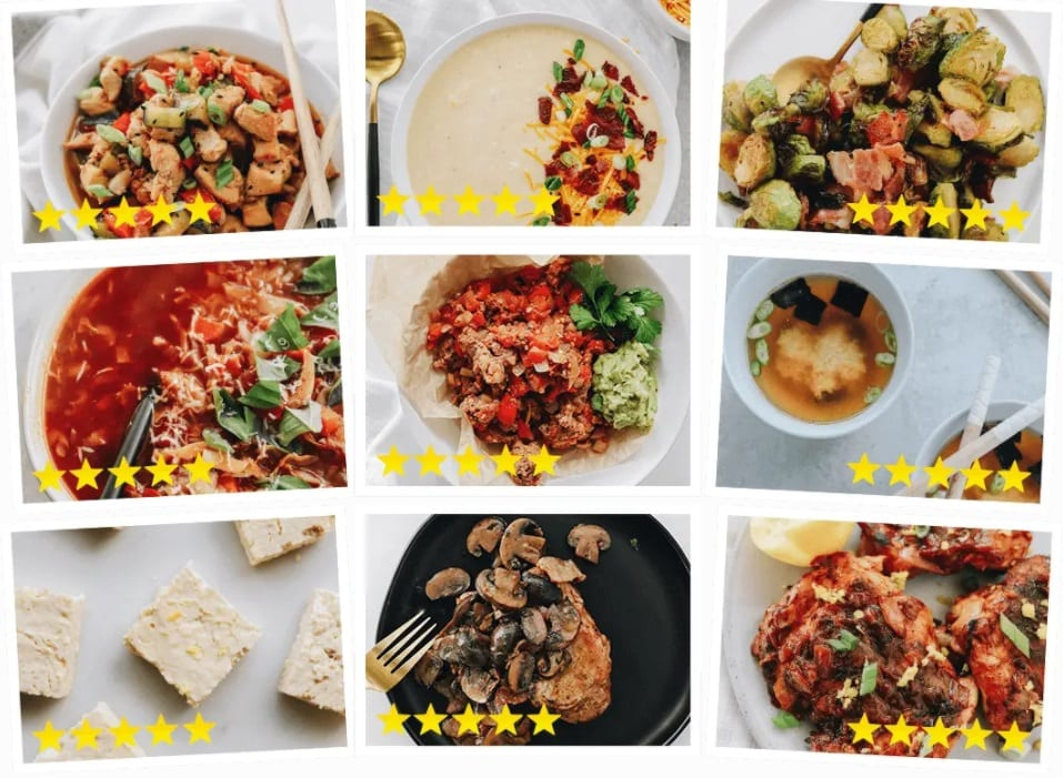 selection of keto diet recipe meals for the keto diet shortcut system