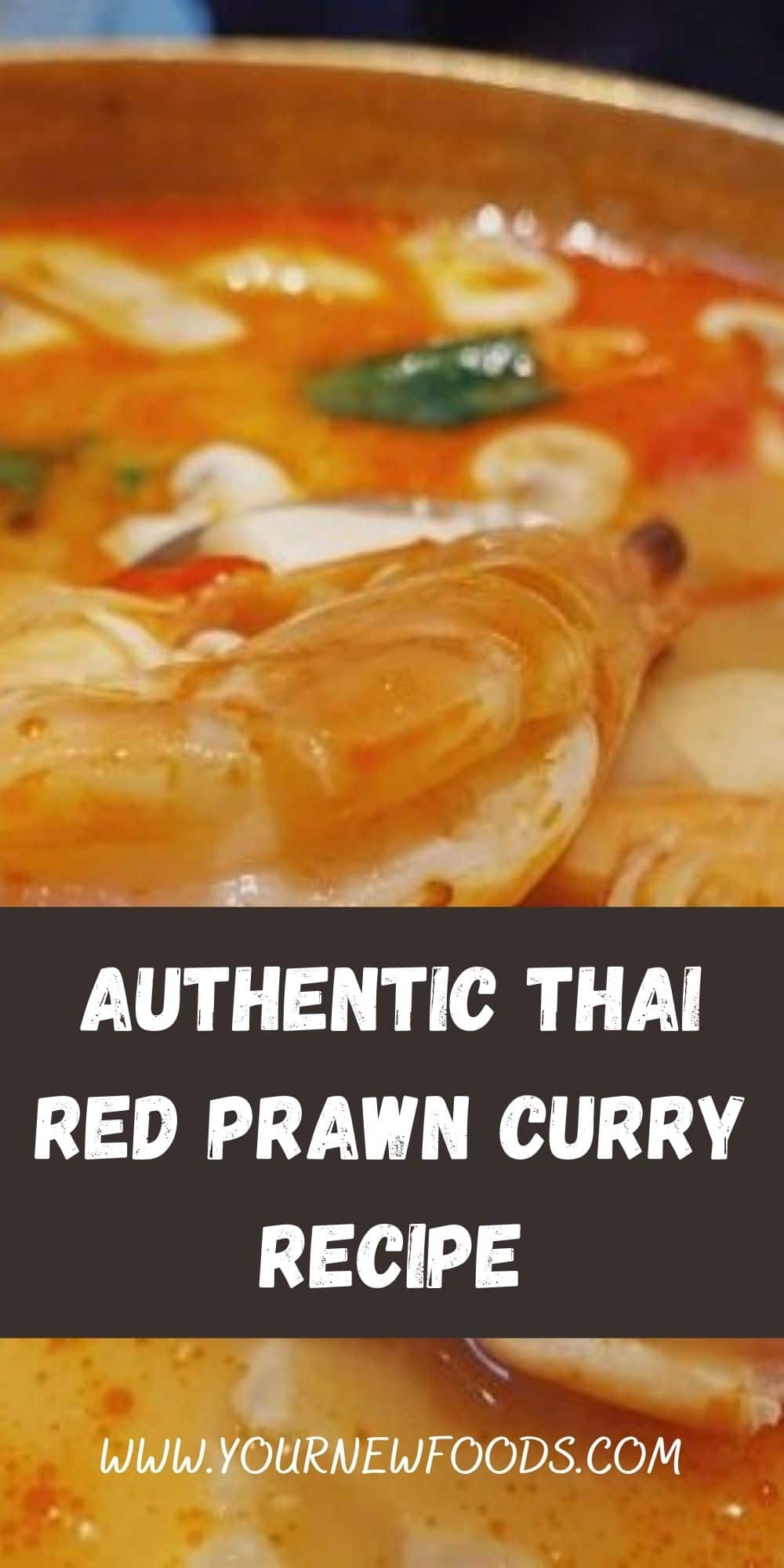 Authentic Thai Red Prawn Curry