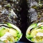 Nori roll with avocado and cucumber