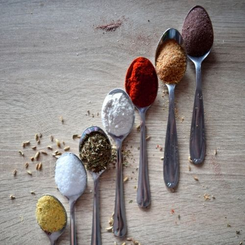 spice on spoons