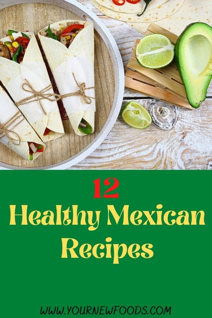 Banner advertising 12 Healthy Mexican food