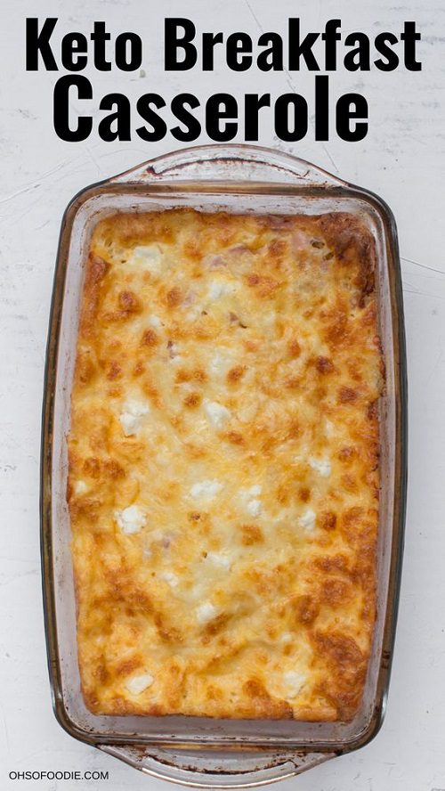 Keto Breakfast Casserole With Three Cheeses And Sausage