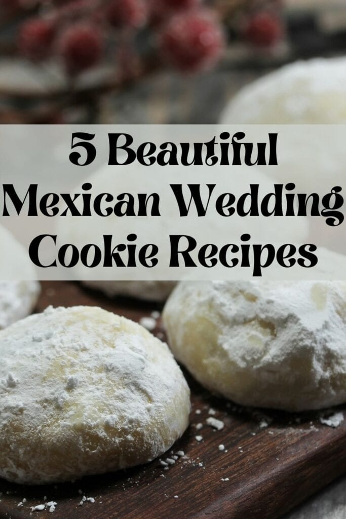 Banner advertising Mexican wedding cookie recipes