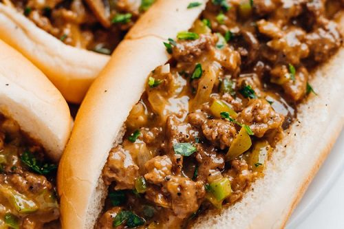 Easy Ground Beef Recipes Cheesy Hot Beef Sandwich Recipe