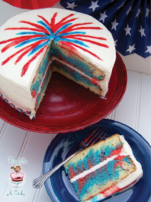 4th of July Cake 4th of July Fireworks Cake