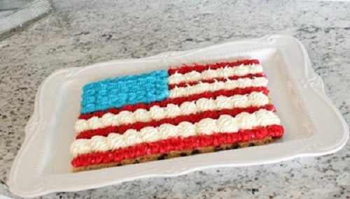 4th of July Cake American Flag Cookie Cake