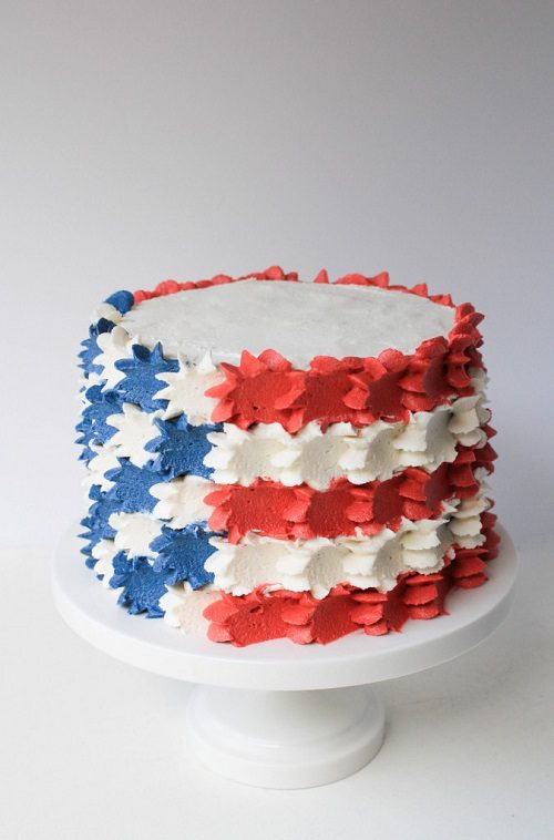 4th of July Cake Buttercream Stars And Stripes Flag Cake