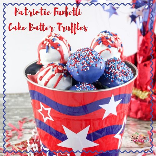 Cake Batter Truffles Recipe For The 4th of July