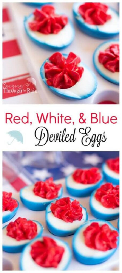 Fourth Of July Deviled Eggs
