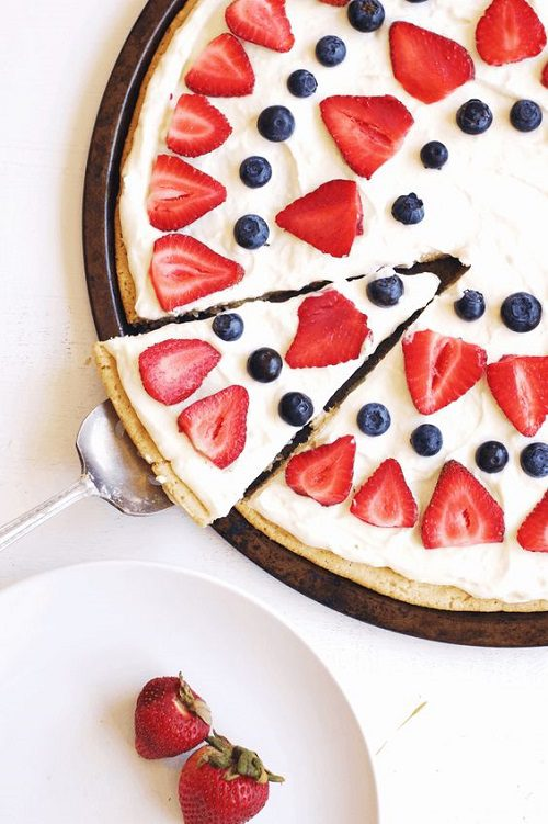 4th of July Desserts Fourth of July Berry Dessert Pizza
