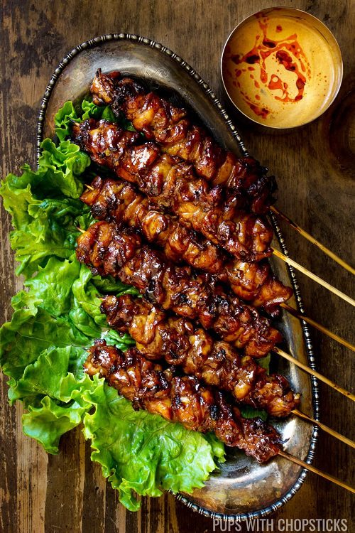 4th of July BBQ Food Grilled Thai Coconut Chicken Skewers 4th of July BBQ Food Recipes