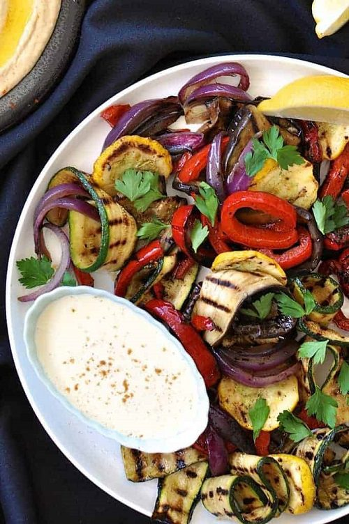 4th of July appetizers Grilled Vegetables Platter