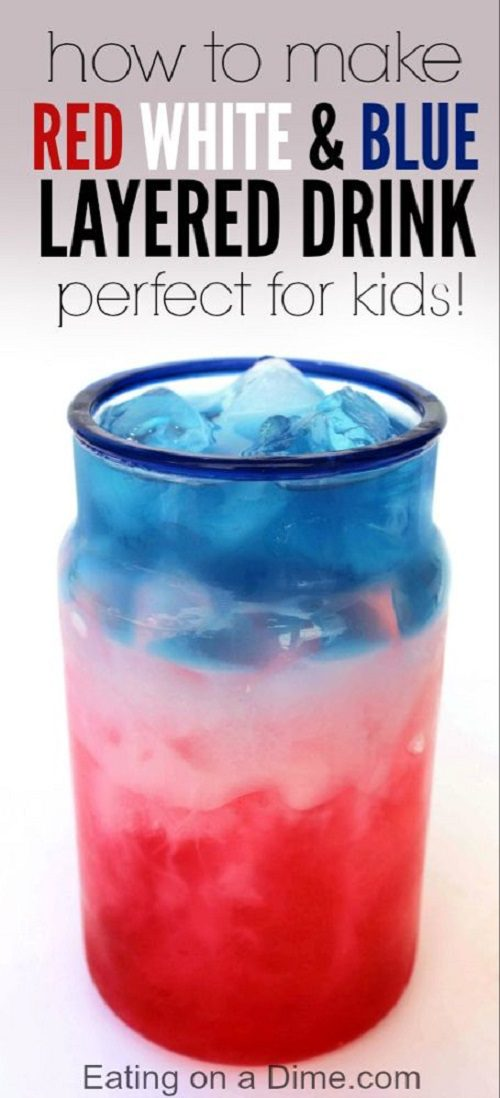 HOW TO MAKE RED, WHITE, AND BLUE DRINK WITH PERFECT LAYERS