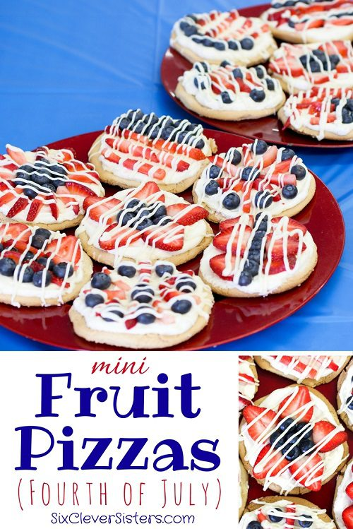 4th of July Desserts Mini Fruit Pizzas (Fourth of July)