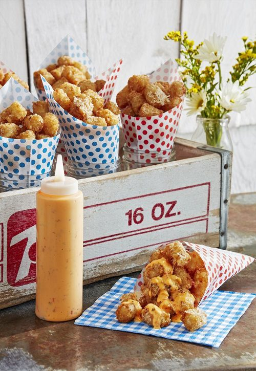4th of July appetizers Parmesan Tots With Dipping Sauce