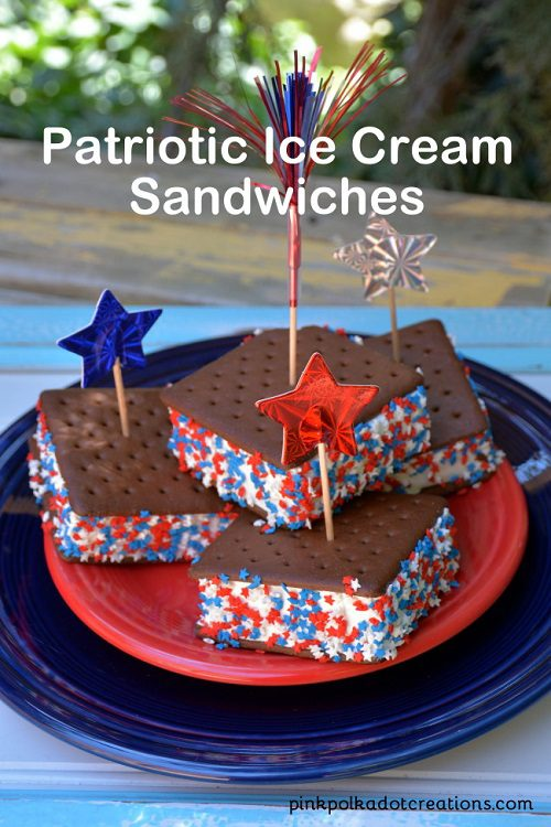 Party food for kids Patriotic Ice Cream Sandwiches