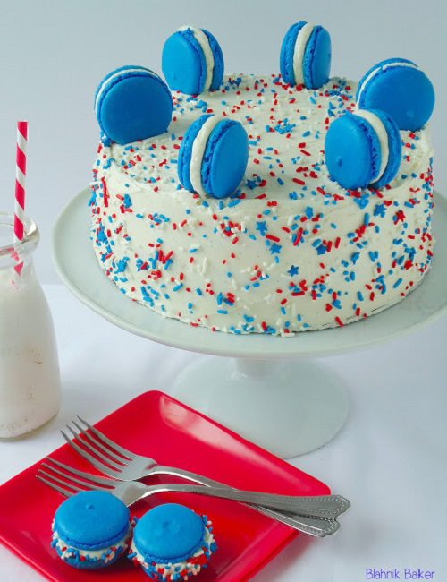 4th of July Cake Red, White and Blue Cake