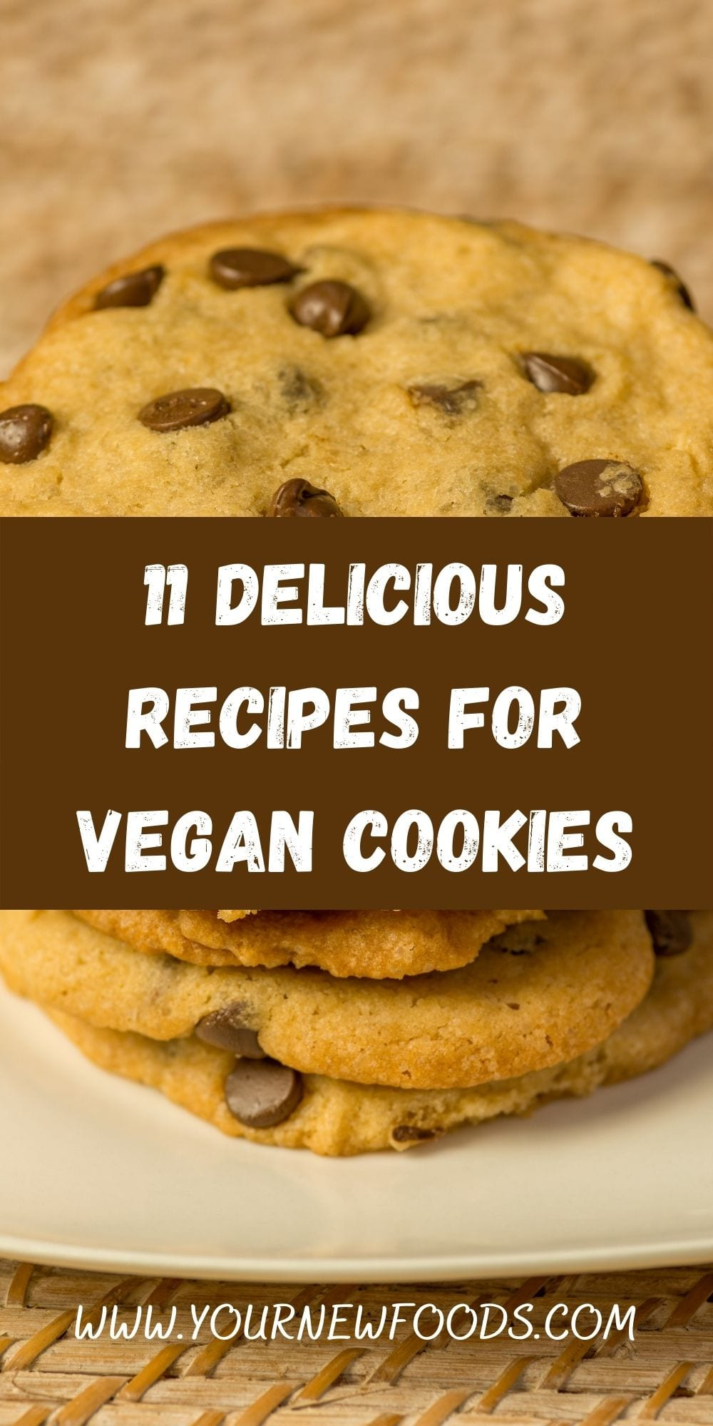 Delicious Recipes For Vegan Cookies with cookies stacked on top of each other on a white plate