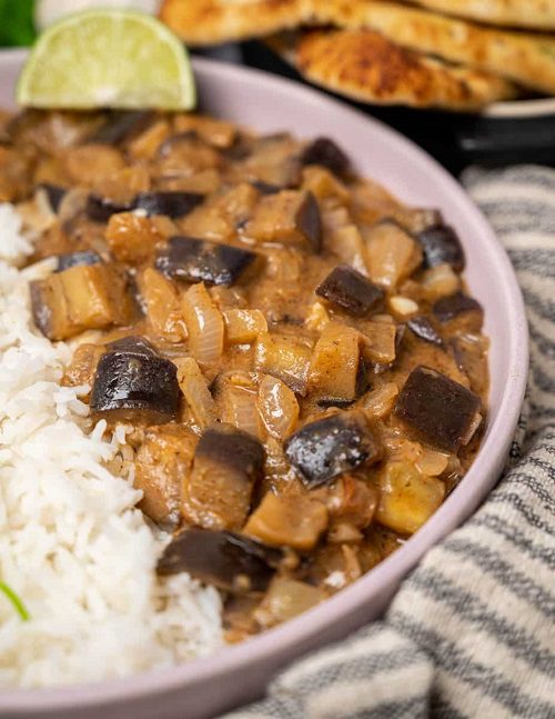 Vegan Curries Recipes Aubergine Coconut Curry with Peanut Butter