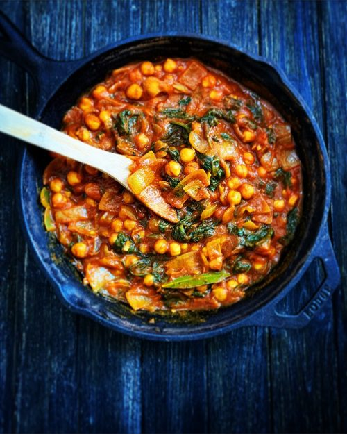 Vegan Curries Recipes Chole With Spinich
