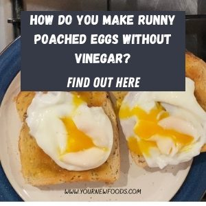 Runny poached egg