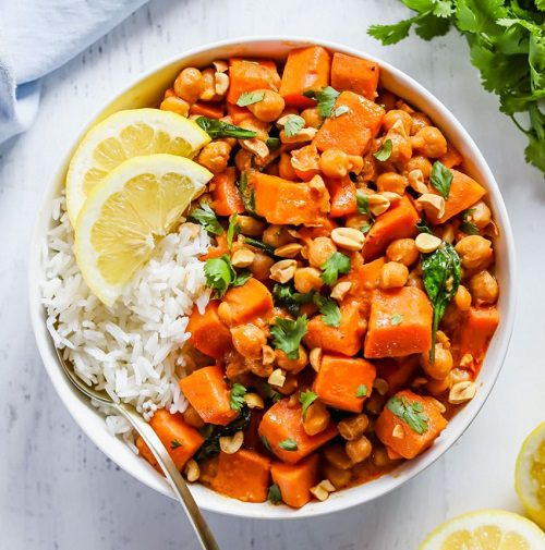 Vegan Curries Recipes Sweet Potato Chickpea Curry