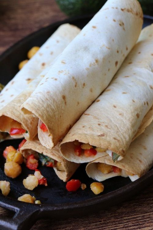 High Protein Chickpea Mexican Flautas