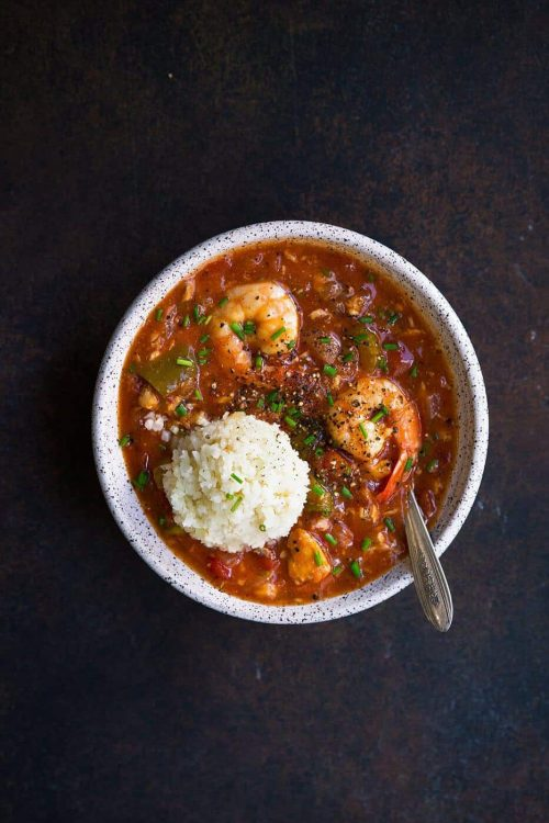 Whole30 Instant Pot Seafood Gumbo (Paleo, Low Carb, Dairy Free)